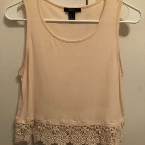 Cropped crochet top from forever 21